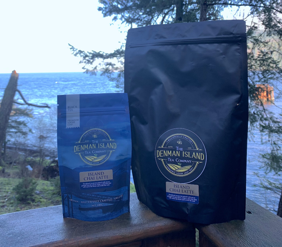 The new Island Chai Latte from the Denman Island Tea Company